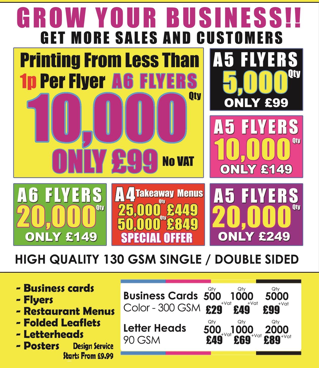 Leaflet Printing - Local Leaflet Promotion